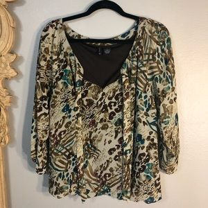 Light weight, New Direction, Tie Neck Blouse. 3/4